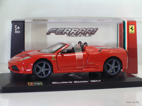 "Модель машины ""Bburago. Ferrari Scuderia Spider 16M"" (масштаб: 1/32) — фото, картинка"