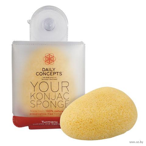 """Спонж для очистки лица """"Your Konjac Sponge Turmeric"""" — фото, картинка"""