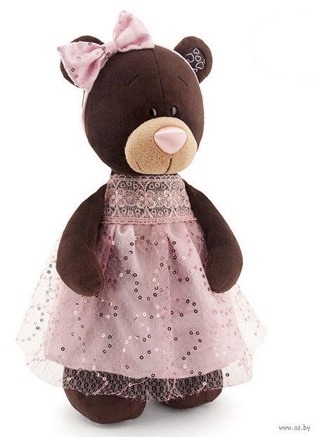 """Мягкая игрушка """"Медведь Milk в платье с блестками"""" (35 см)"""