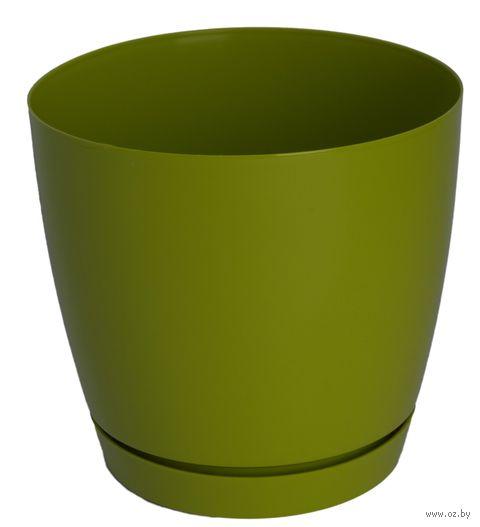 """Цветочный горшок """"Тоскана"""" (13 см; оливковый) — фото, картинка"""