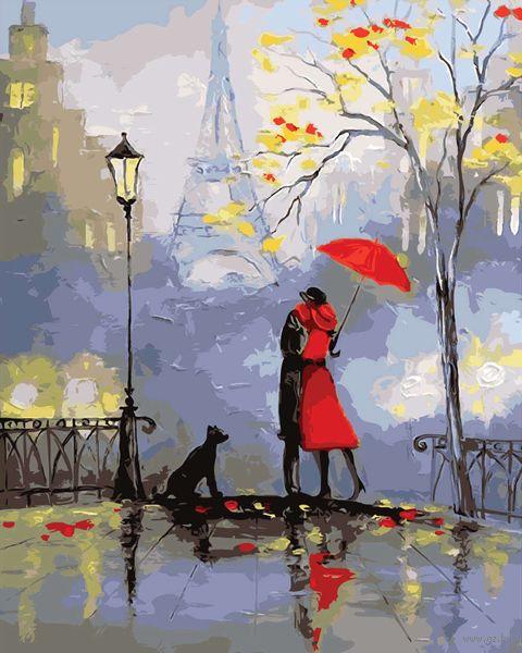 "Картина по номерам ""Французкий поцелуй"" (400х500 мм) — фото, картинка"