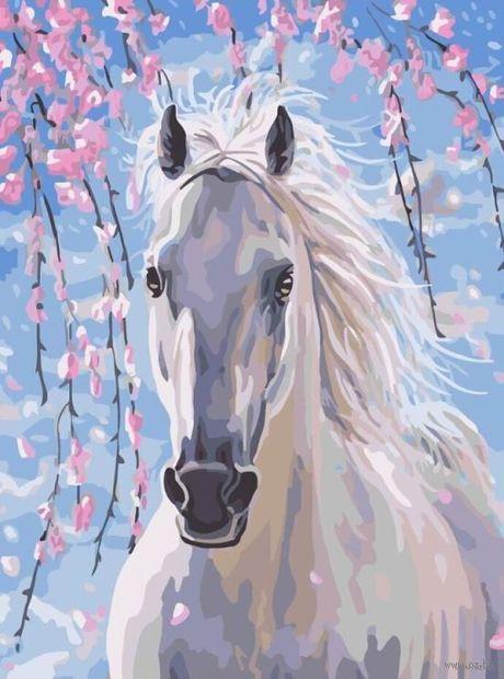 "Картина по номерам ""Белее снега"" (500х650 мм) — фото, картинка"