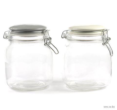 Банка для сыпучих продуктов стеклянная (1 л; арт. 93525-3) — фото, картинка