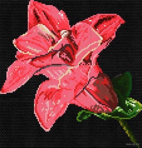 "Вышивка крестом ""Мерцающий цветок"" (207x216 мм) — фото, картинка"