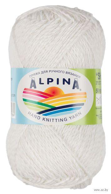 "Пряжа ""ALPINA. Shebby №10"" (50 г; 150 м; белый) — фото, картинка"