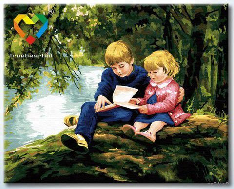 "Картина по номерам ""С братом за книгой"" (400x500 мм; арт. HB4050231)"
