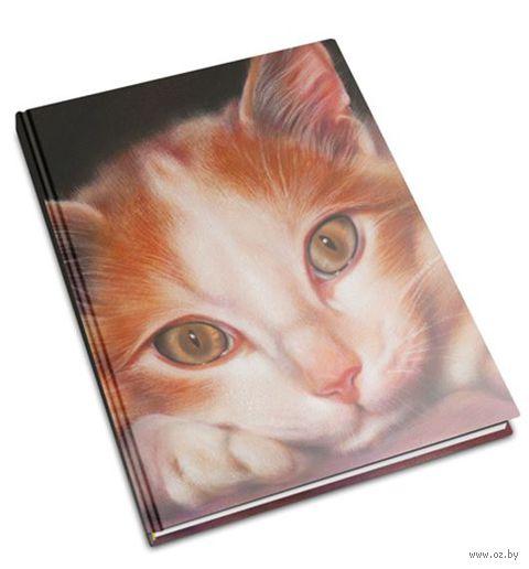 """Записная книжка в клетку """"Кошка №2"""" (А5)"""
