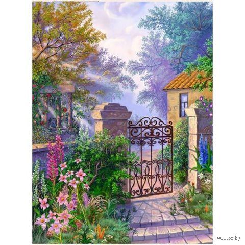 """Алмазная вышивка-мозаика """"Калитка в саду"""" (300x400 мм) — фото, картинка"""