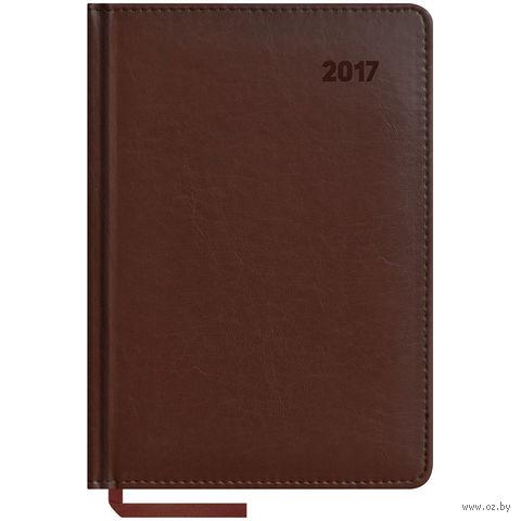 """Ежедневник датированный """"Caprice"""", 2017 (А5; 176 листов; коричневый)"""