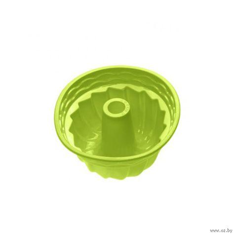 """Форма для выпекания силиконовая """"Кекс"""" (240х105 мм; зеленая) — фото, картинка"""