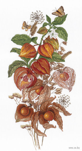 """Вышивка крестом """"Изумрудная ягода"""" (470х250 мм) — фото, картинка"""