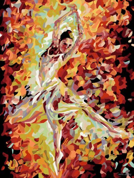 "Картина по номерам ""Огонь свечи"" (300х400 мм) — фото, картинка"