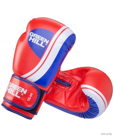 """Перчатки боксёрские """"Knockout BGK-2266"""" (10 унций; красные) — фото, картинка"""