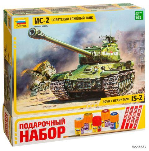 """Сборная модель """"Советский танк ИС-2"""" (масштаб: 1/35; подарочный набор) — фото, картинка"""