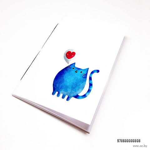 "Блокнот белый ""Милый котик"" А7 (арт. 808)"
