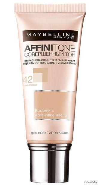 """Тональный крем для лица """"Affinitone"""" (тон: 42, темно-бежевый; 30 мл)"""
