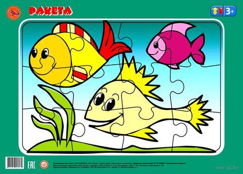 """Пазл-рамка """"Рыбки"""" (12 элементов) — фото, картинка"""