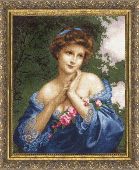 """Вышивка крестом """"Летняя роза"""" (450х364 мм) — фото, картинка"""