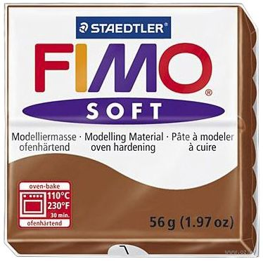 """Глина полимерная """"FIMO Soft"""" (карамель; 56 г)"""