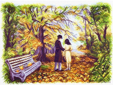 """Канва с нанесенным рисунком """"Двое в парке"""""""