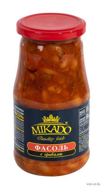 """Фасоль """"Mikado. С грибами"""" (500 мл) — фото, картинка"""